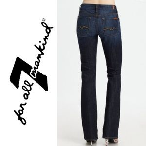 7FAM kimmie bootcut dark washed jeans 27×32